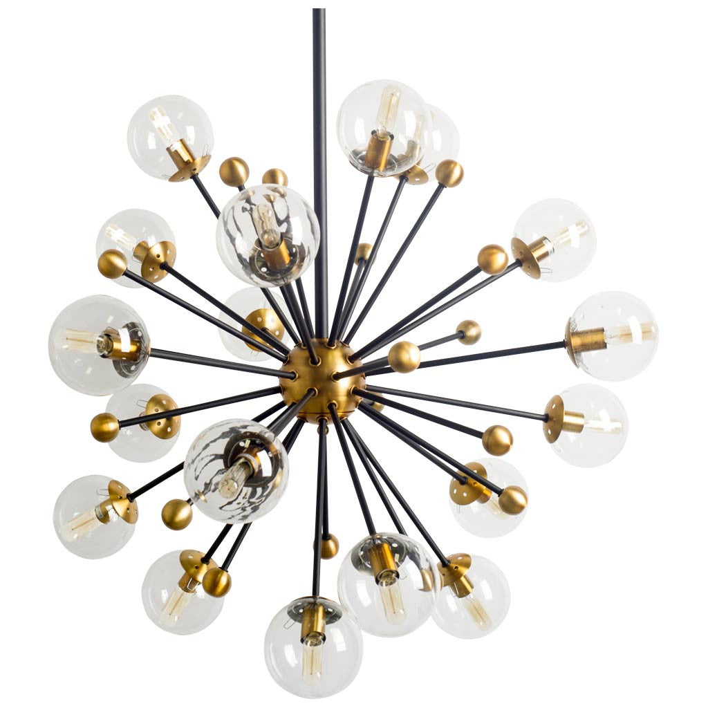 Gold Glass Globe Sputnik Chandelier - CENTURIA