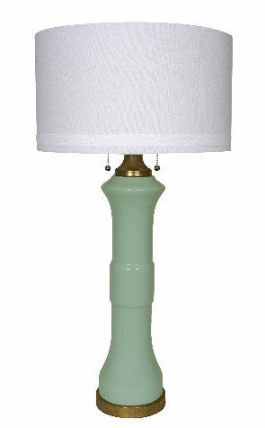 Teal and Gold Glass Lamp - CENTURIA