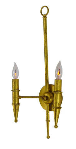 Victoria Sconce in Gold - CENTURIA