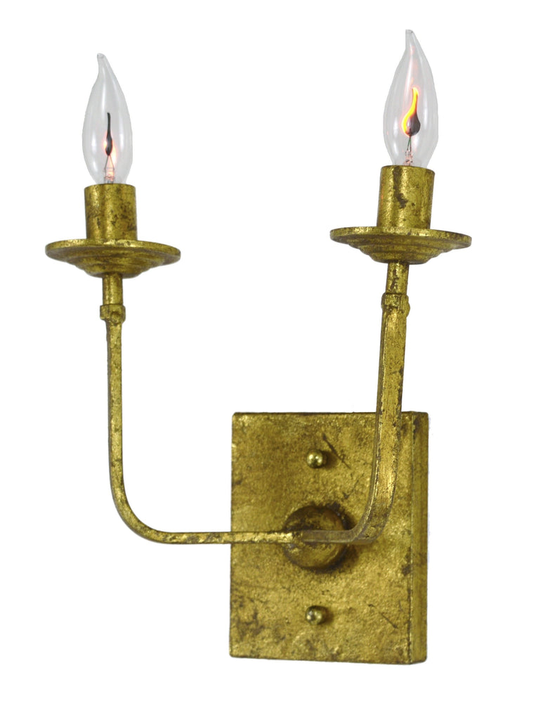 Classic Gold Two Light Sconce - CENTURIA