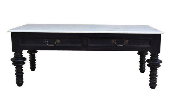 Vintage Style Black and White Coffee Table - CENTURIA