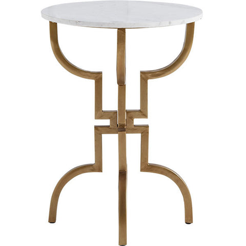 Marble & Gold Regency Side Table - CENTURIA