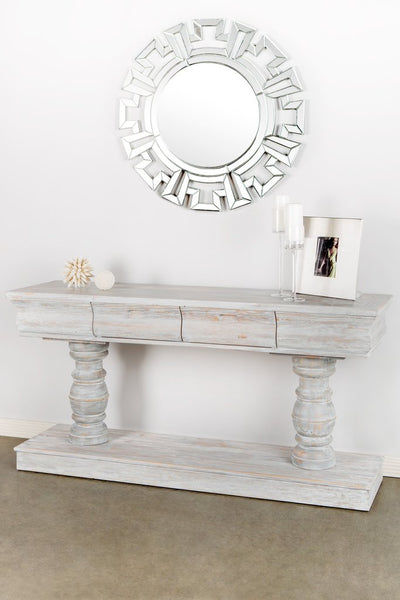 White Washed Grey Oak Console - CENTURIA