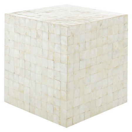 Ivory Capiz Stool or Side Table - CENTURIA