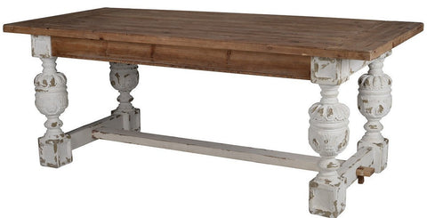 Antique White Farmhouse Dining Table - CENTURIA