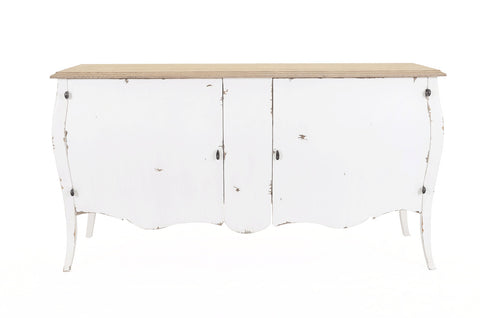 White Weathered Farmhouse Style Cabinet