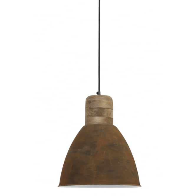 Barn Wood and Rust Weathered Pendant - CENTURIA