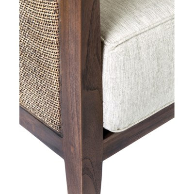 Mid-Century Inspired Woven Rattan Club Chair - CENTURIA