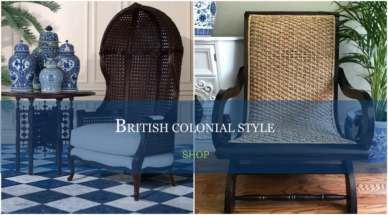 British Colonial, Safari, West Indies Inspired Decor