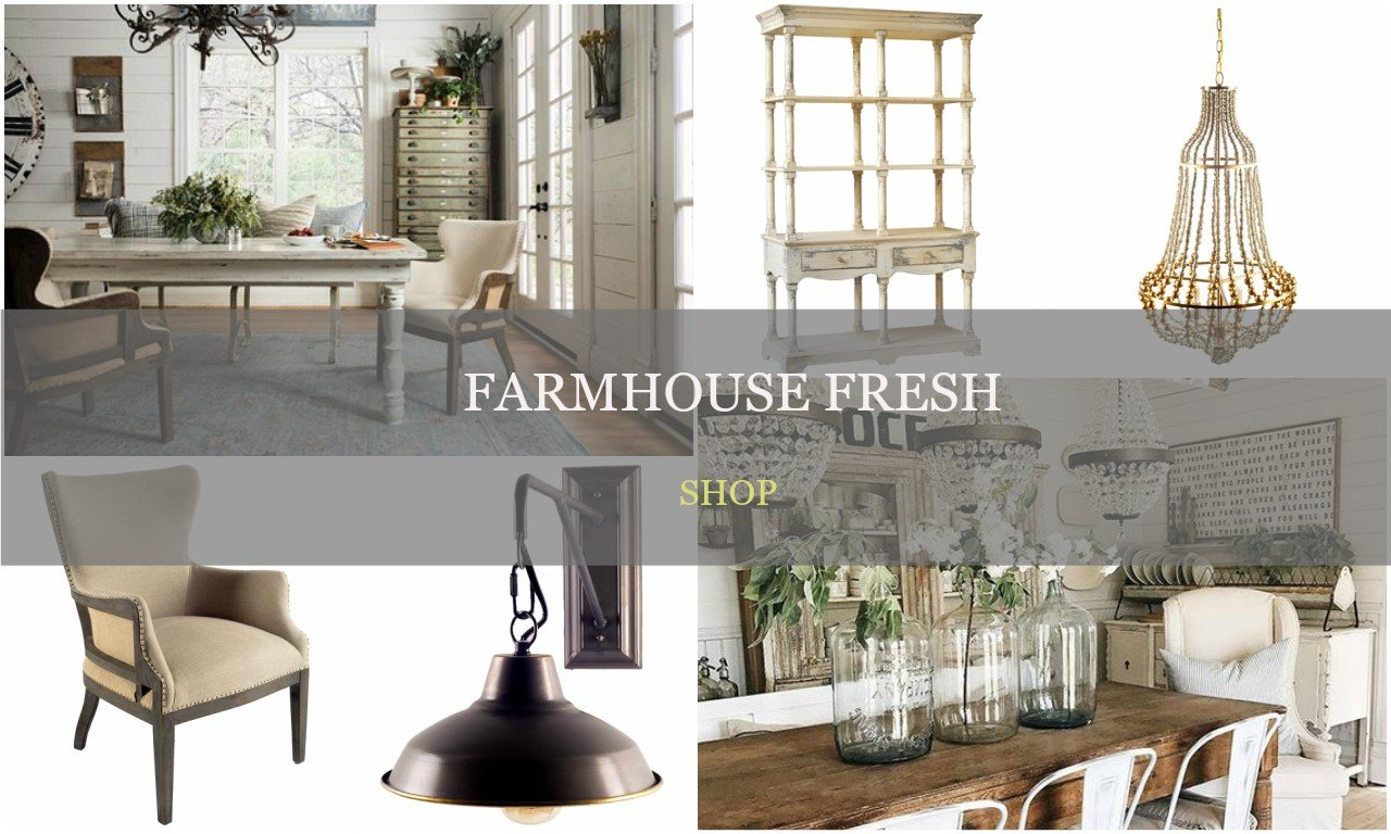 farmhouse style decor and furniture