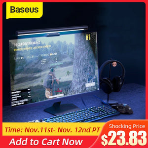 Baseus Stepless Dimming Eye-Care LED Desk Lamp For Computer PC Monitor Screen bar Hanging Light LED Reading USB Powered Lamp