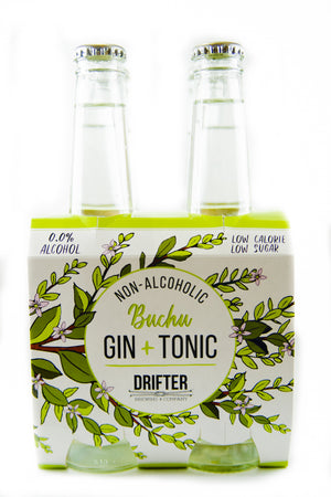 0% Buchu Gin + Tonic - Pack of 4