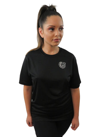 LBA CALM LION GROWLING BEAR TEE BLACK