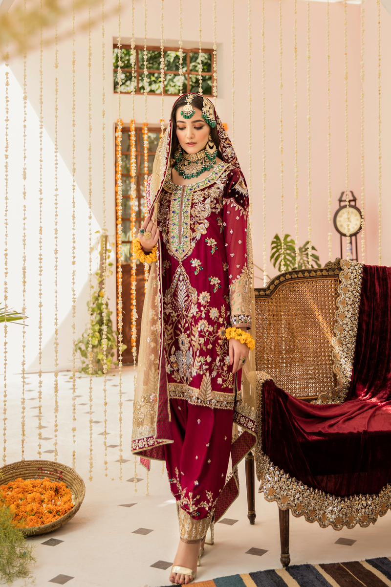 Style # 1266-Bridal (2Piece Rs.230,800/-) (Dupatta on Request)