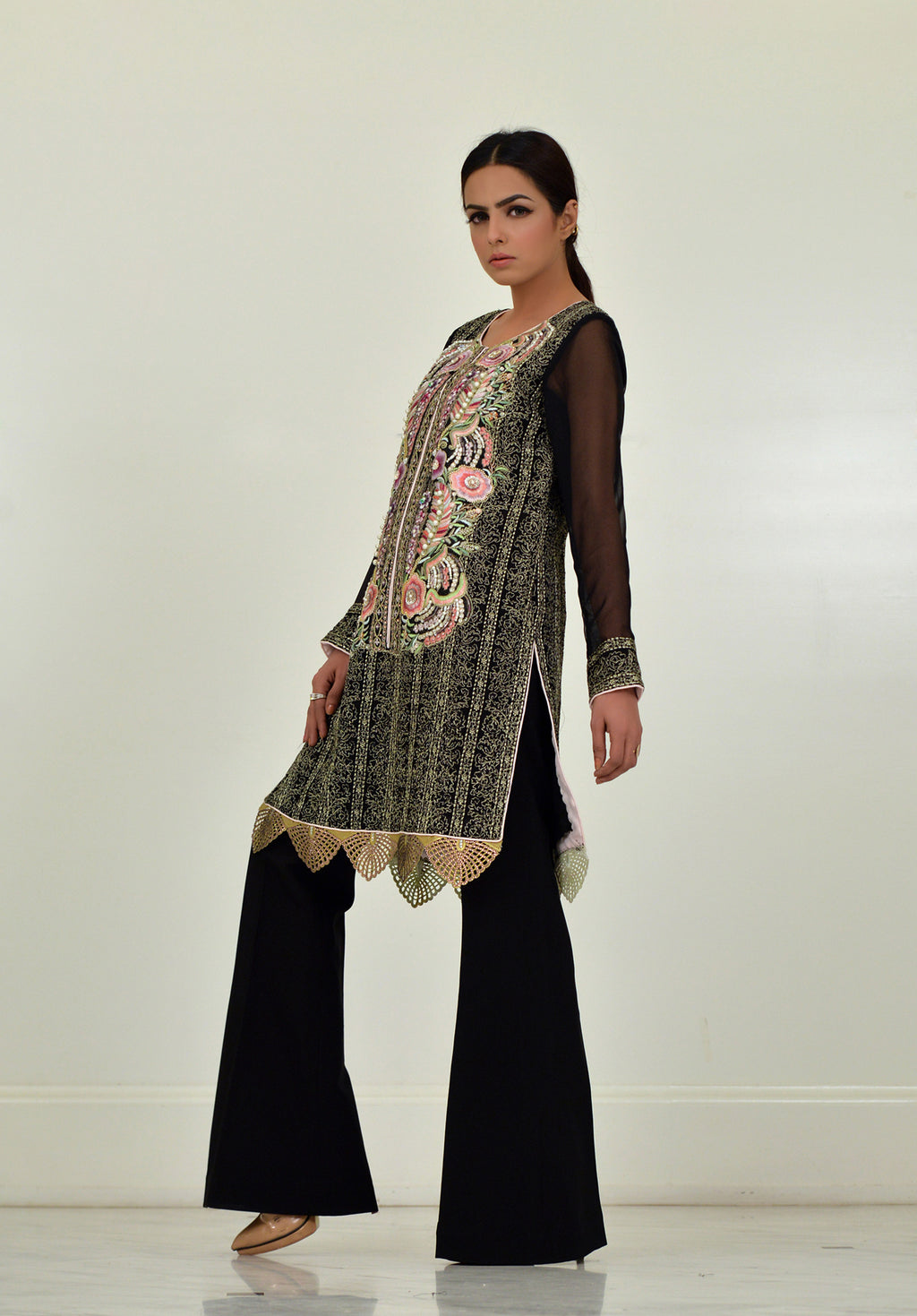 (SKU-932B)-2 PIECE ATTIRE -Shirt-Pant Fabric