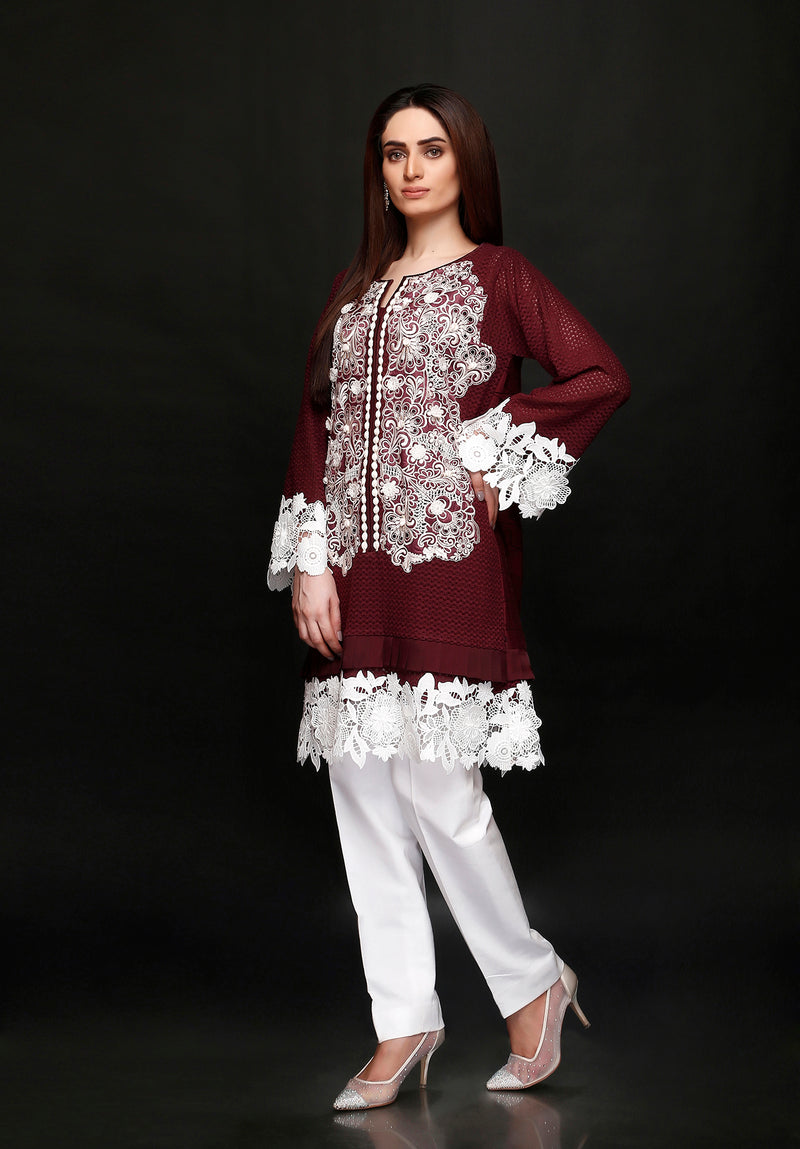 (SKU-1057)-2 PIECE ATTIRE-SHIRT & SLIP