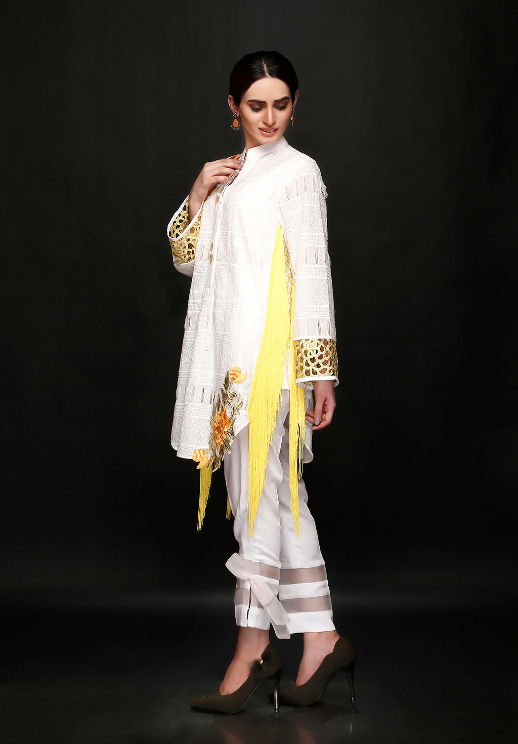 (SKU-1058)-2 PIECE ATTIRE-SHIRT & SLIP