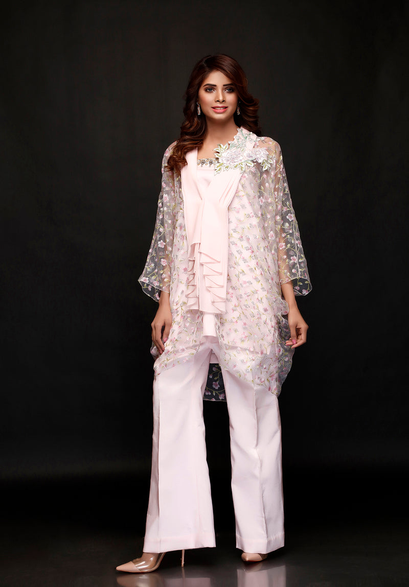 (SKU-1135)-2 PIECE ATTIRE-SHIRT & SLIP