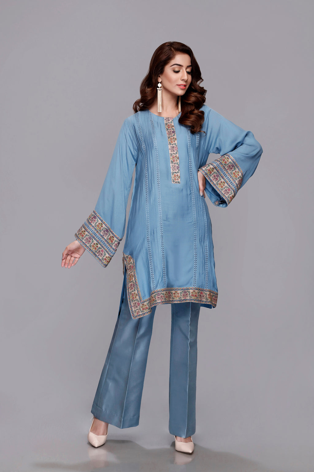 (SKU-1173)-2 PIECE ATTIRE (Shirt Slip)