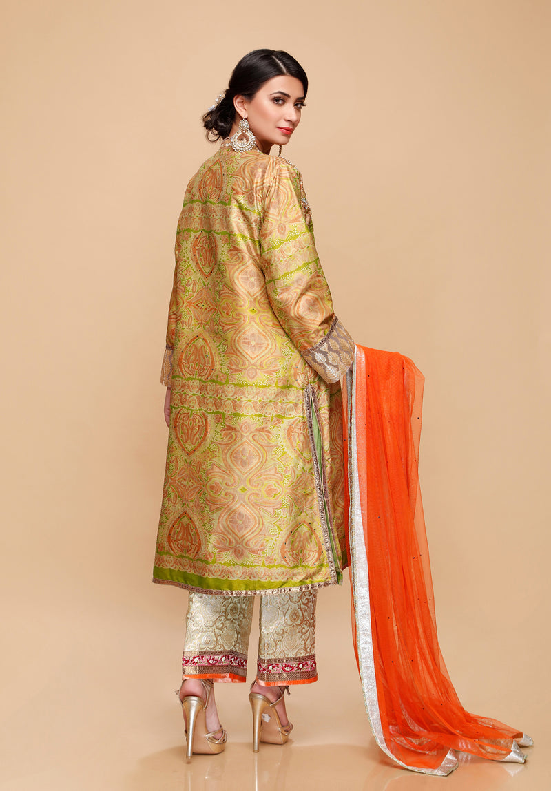 (SKU-1245)-3 PIECE ATTIRE-SHIRT PANT DUPATTA