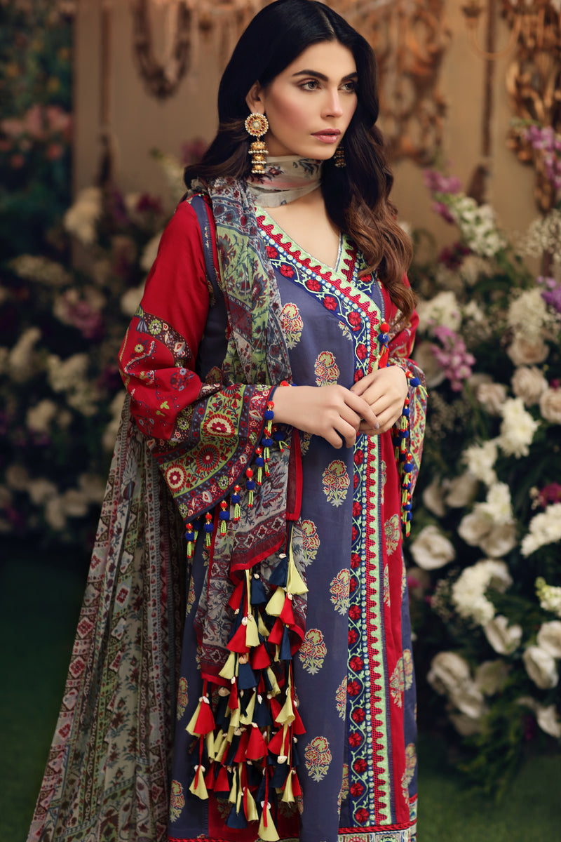 Ethnic Gala (From (Un-stitched)-Sale Price 4250/- Stitched price detail in description)