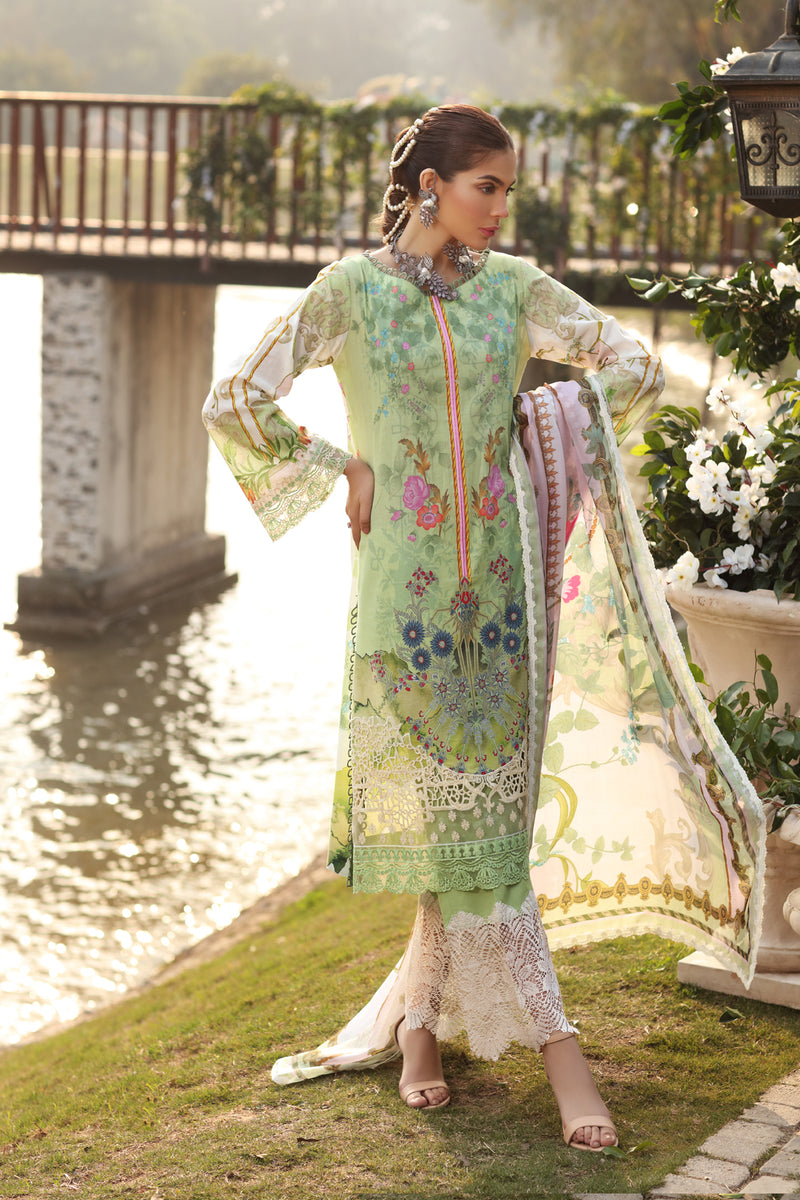 SPRING FIELDS SL-09-(Un-Stitched LAWN 3-Piece)
