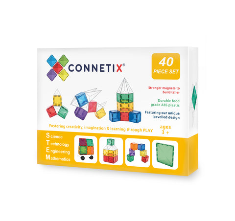 Connetix Tiles - 40 Piece Square Pack [In Stock]