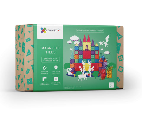 Connetix Tiles - 100 Piece Set [New Look!]