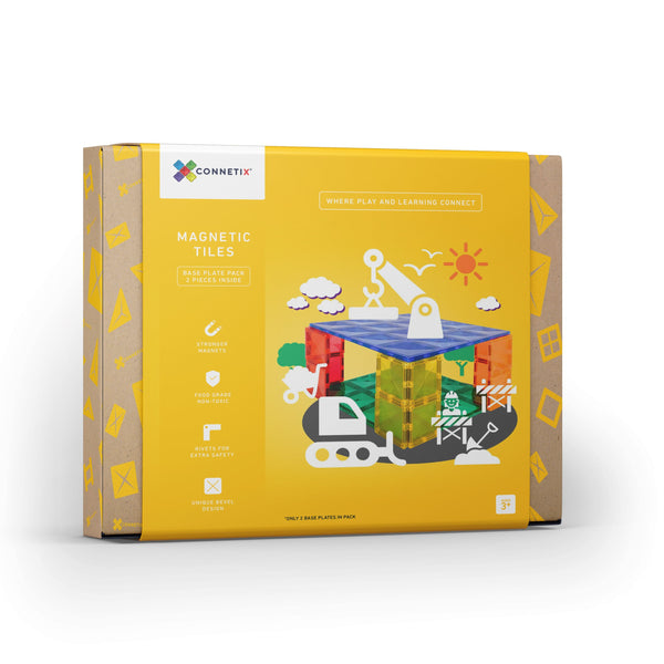 Connetix Tiles - 2 Piece Base Plates Pack [New Release!]