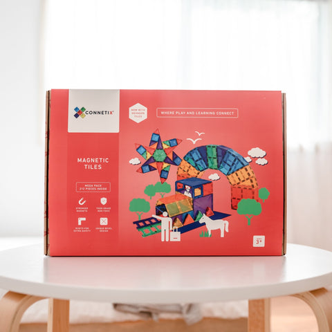 Connetix Tiles - 212 Piece Mega Pack [New Release] PREORDER Delivery in Jan 2021