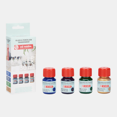 Talens Art Creation Glas & Porselein Transparant Set 4x30 ml