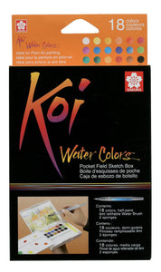 Sakura Koi Water Colors Sketchbox 18+ Brush