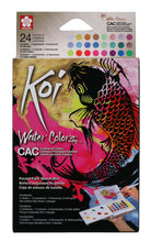 Afbeelding in Gallery-weergave laden, Sakura Koi Water Colors Sketchbox 24 Metallic Reflex Pearle+Brush