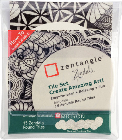 Sakura Zentangle Zendela Set Tile Set