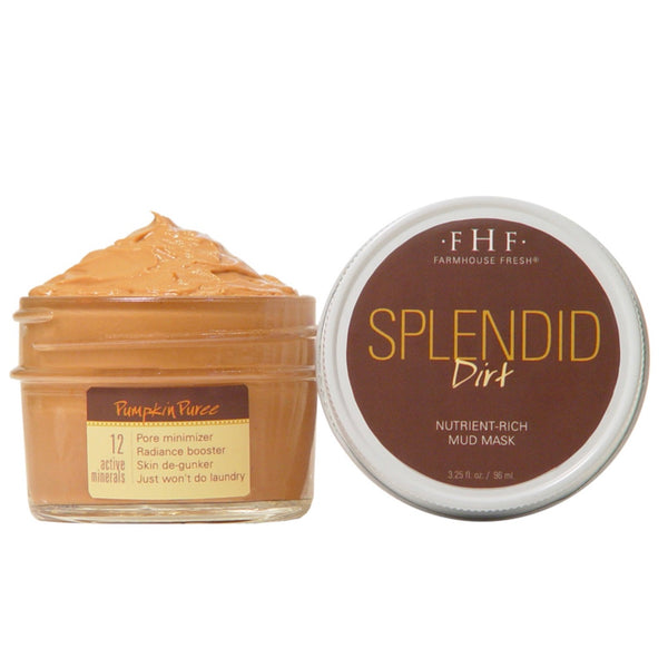 Farmhouse Fresh Splendid Dirt Nutrient Mud Mask with Organic Pumpkin Puree