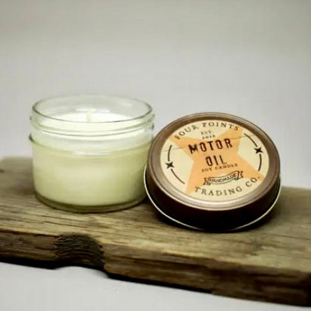 Motor Oil 4oz Soy Candle