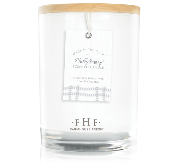 Farmhouse Fresh Fluffy Bunny Candle