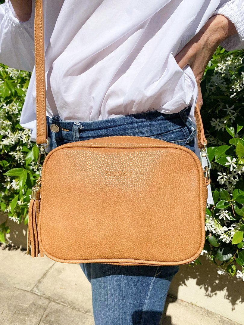 TAN CROSS BODY BAG