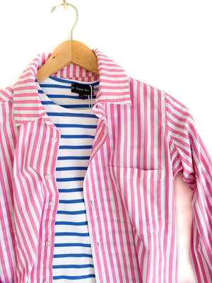FRANKLIN SHIRT -BOLD STRIPE PINK