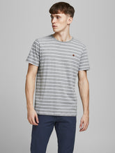 Afbeelding in Gallery-weergave laden, JPRBLUTOM T-shirt - light grey melange