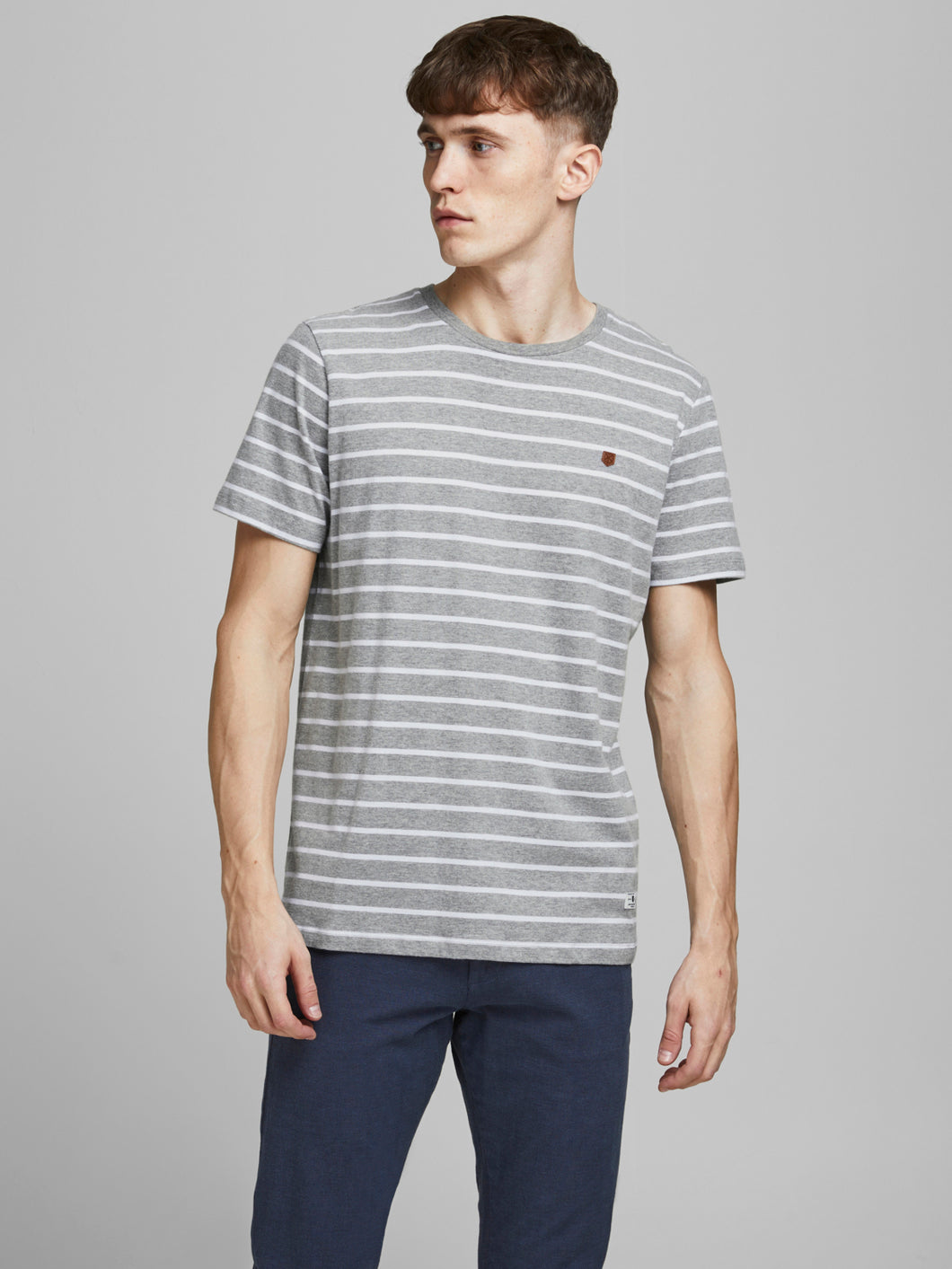 JPRBLUTOM T-shirt - light grey melange