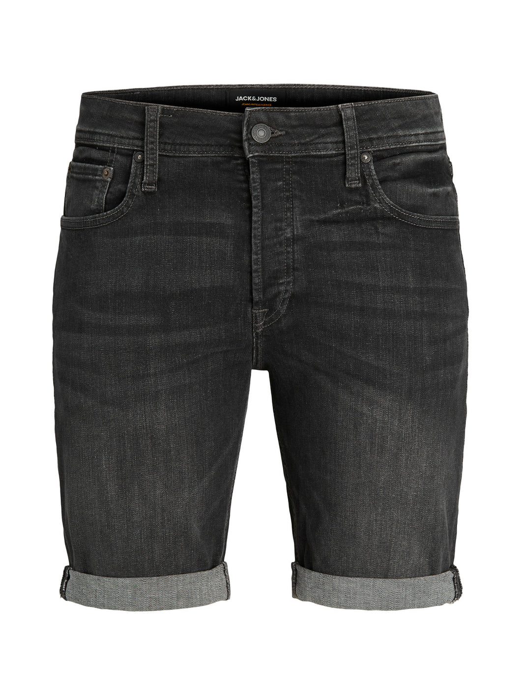 JJIRICK Shorts - black denim