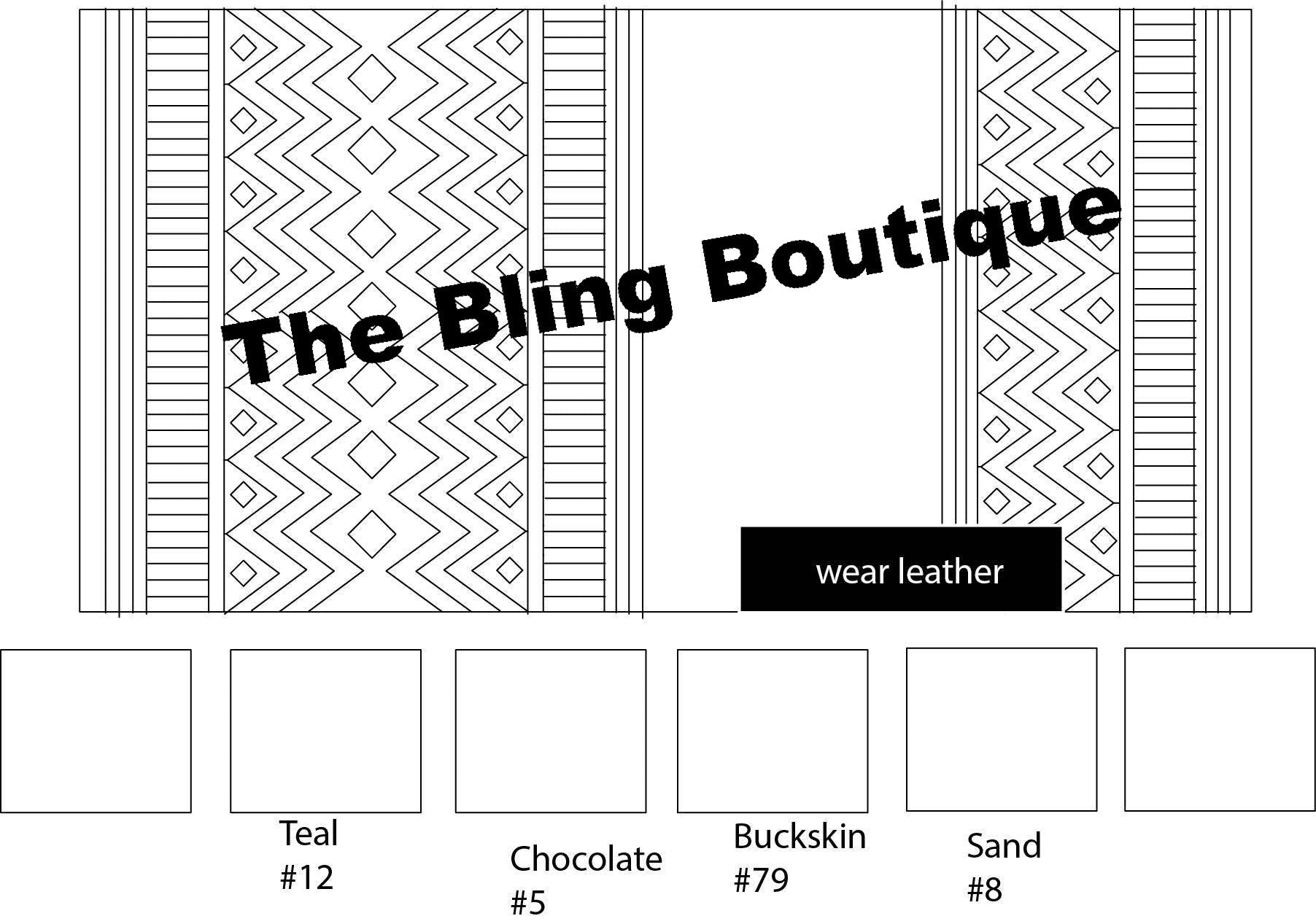 Custom Bling Boutique Show Pad - Design #9