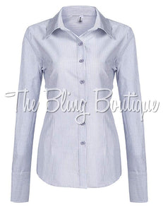 (Multiple Colors Available) Striped Button Down Shirt