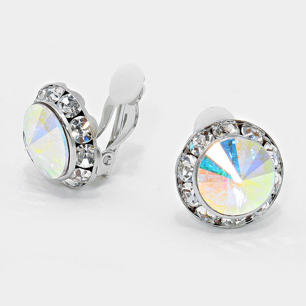 Clip On Crystal Earrings