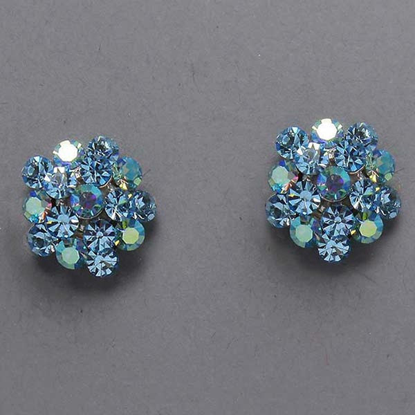 Crystal Cluster Earrings (Multiple Colors Available)