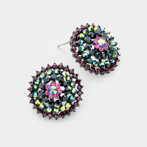 Crystal Bloom Earrings (Multiple Colors Available)