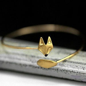 Gold Fox Wrap Bracelet