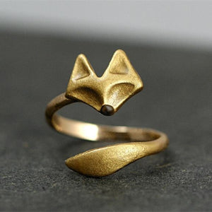Gold Fox Ring