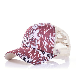 Cow Print Pony Tail Hat